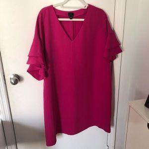 Worthington Ruffle Sleeve Shift Dress (XXL)